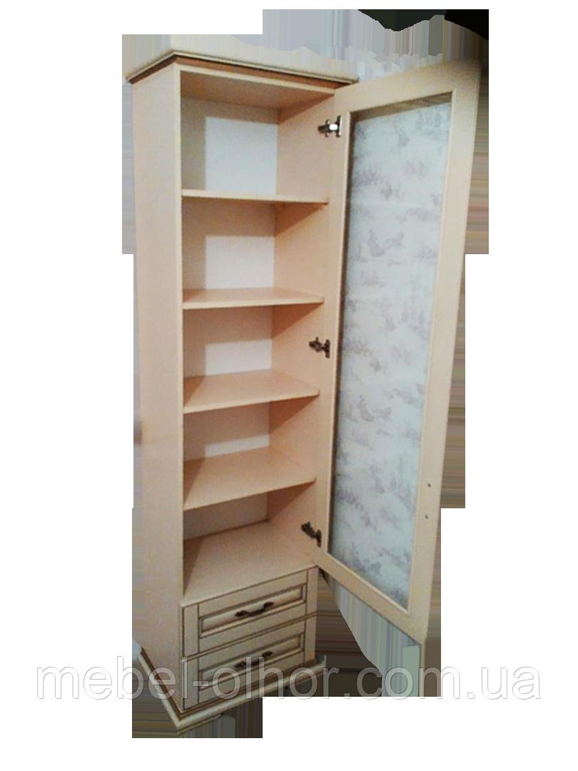 Шкаф витрина из массива  (эмаль белая)