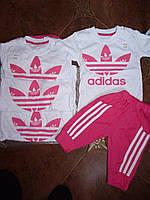 Детский летний костюм для девочек ''Adidas''