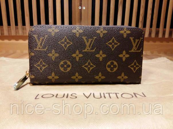 Гаманець Louis Vuitton Люкс, класика, на блискавці, з коробкою