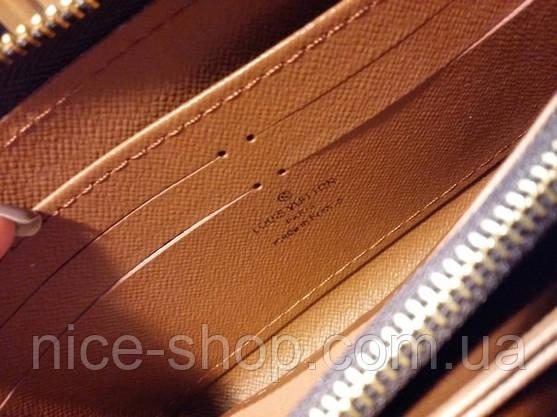 Гаманець Louis Vuitton Люкс, класика, на блискавці, з коробкою, фото 3