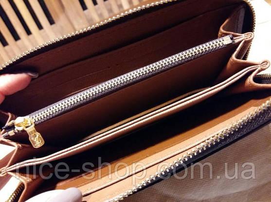 Гаманець Louis Vuitton Люкс, класика, на блискавці, з коробкою, фото 2