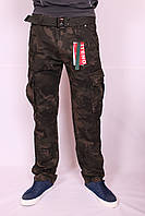 Мужские джинсы-карго камуфляжные 30-38рр.