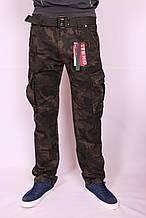 """Чоловічі джинси-карго """"iteno""""камуфляжні. розмір 30-38."""