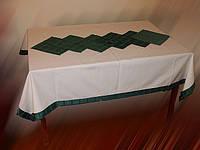Скатерть водоотталкивающая крем+зелен, фото 1