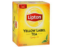 Чай Lipton ( Липтон ) Yellow label tea, черный,  100 пакетиков