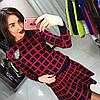 Костюм юбка+свитер клетка, фото 2