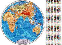 Вафельная картинка на торт Карта мира