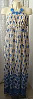 Платье женское легкое летнее сарафан макси бренд Papaya р.48-50 6024