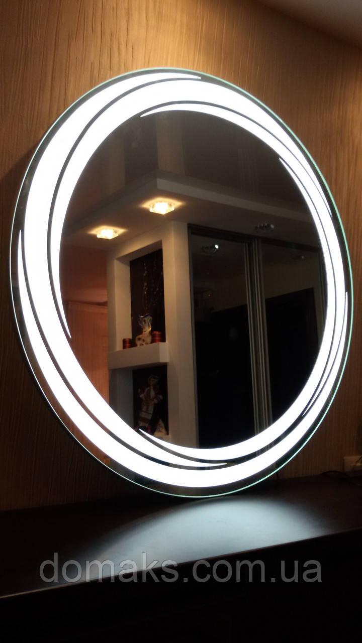 Зеркало со светодиодной подсветкой, индивидуальный размер