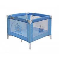 Игровой детский манеж Bertoni PLAY STATION (blue adventure), квадратной формы