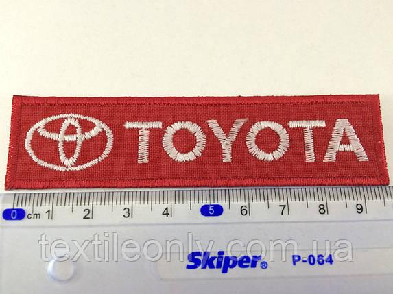 Нашивка Toyota ( тойота ) цвет красный, фото 2