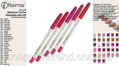 Олівець для губ водостійкий Flormar Waterproof lipliner #228, фото 2