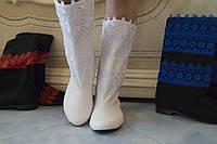 Женские весенние стильные полусапожки, эко кожа+макраме. Арт-0464, фото 1