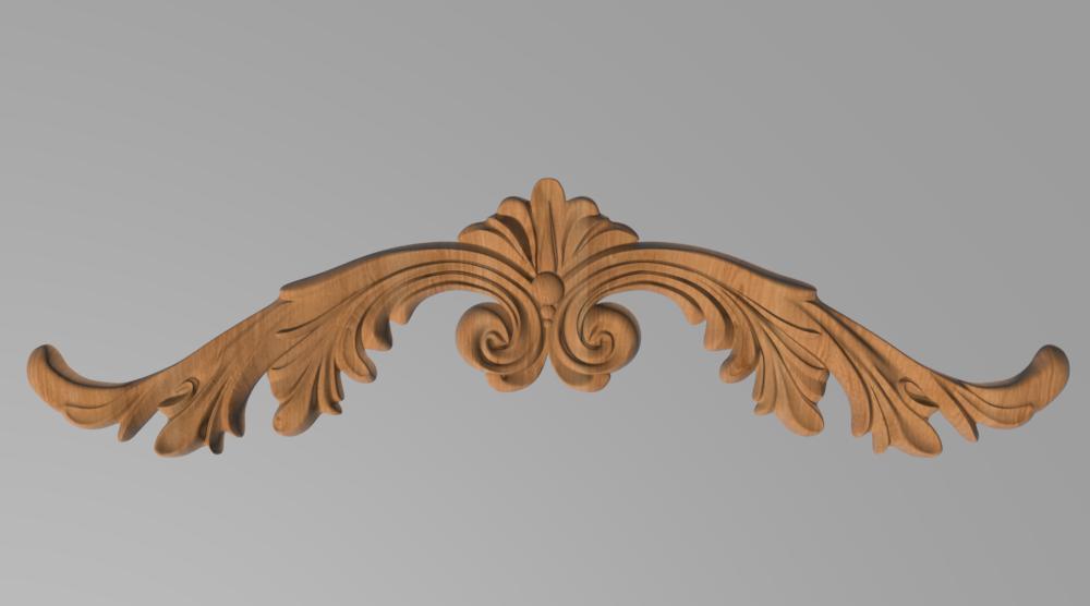 Код ДГ 35.Деревянный резной декор для мебели. Декор горизонтальный