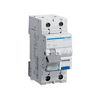 Дифференциальный автоматический выключатель 1+N,  6A, 30 mA, B, 6 КА, A, 2м Hager