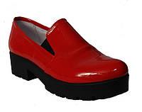 Туфли женские красный лак, фото 1
