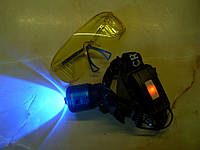 Мощный  налобный фонарик BL-2199T6 з синим излучением