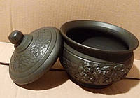 Горщик для запікання (чанашниця) козаки керамічний 1л