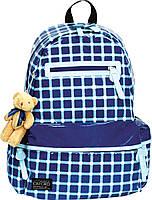 Рюкзак подростковый 1 Вересня Х052 oxford синий с игрушкой (551992)