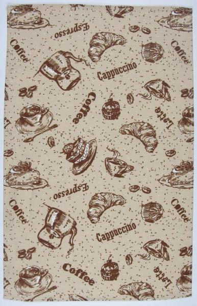 """Кухонное вафельное полотенце """"Кофе"""" 60х36см"""