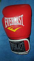 Перчатки боксерские EVERLAST кожа 10-12oz  красные