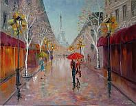 «Париж, Париж! Ты снова манишь...» картина маслом