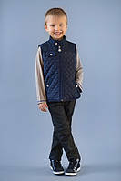 Детский стеганый жилет для мальчика демисезонный
