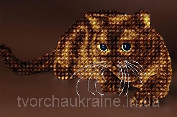 """Схема на ткани для вышивания бисером """"Кот"""" (серия Элит)."""