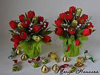 """Букет из конфет """"Сладкие тюльпаны"""""""