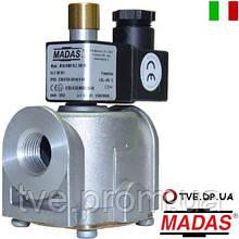 Клапан электромагнитный газовый Madas M16/RMC N.A. DN 25