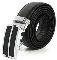 Мужской ремень с автоматической пряжкой Kangaroo 8710-12 черный ДхШ: 125х3,4 см.