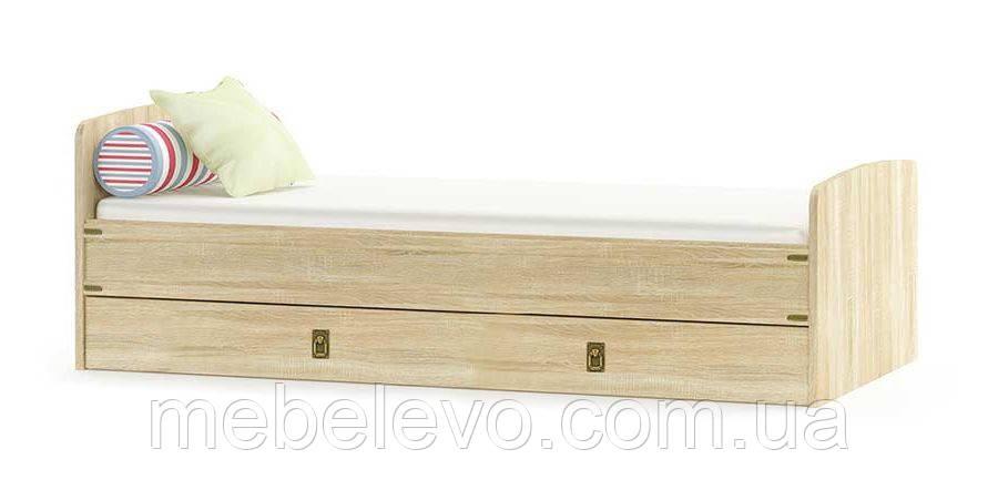 Кровать Валенсия 900 685х2025х975мм дуб самоа   Мебель-Сервис