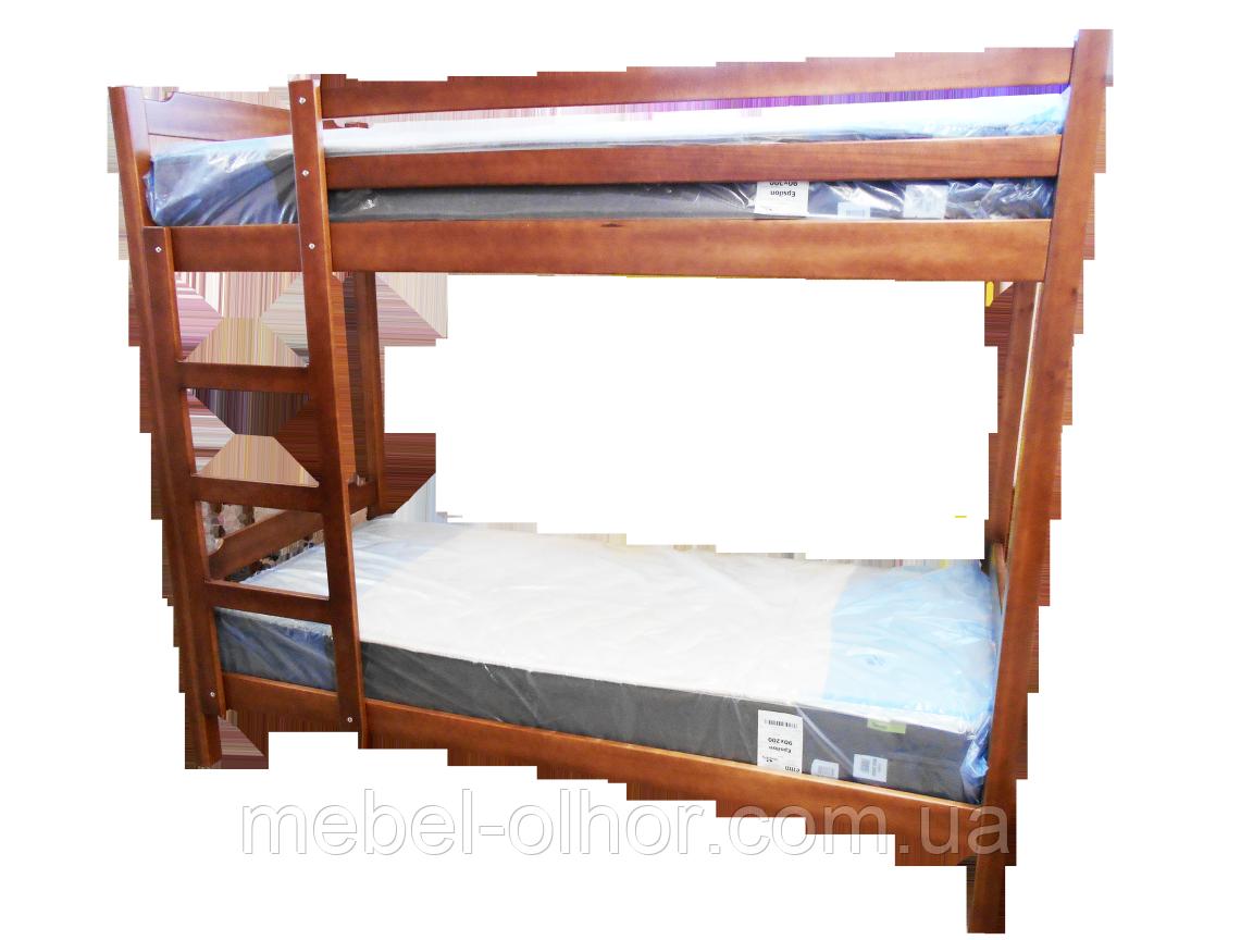 Кровать двухъярусная из дерева