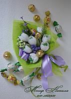 """Букет из конфет """"Белые тюльпаны"""", фото 1"""