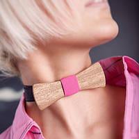 Бабочка галстук деревянная разные цвета