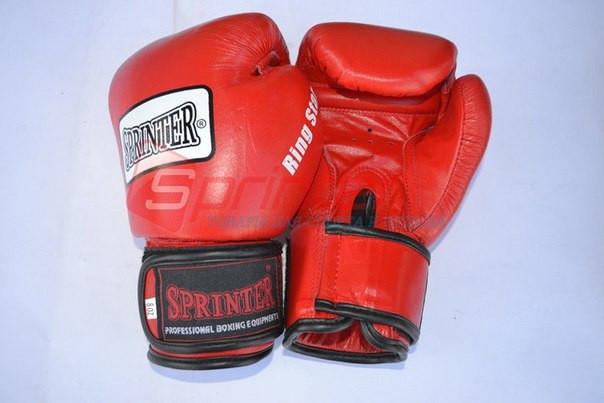 Рукавички боксерські «Ring-Star» Шкіра. Червоні, 8 унц.