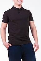 Мужская футболка Поло черная, фото 1