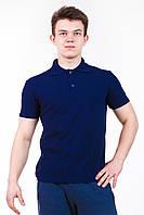 Мужская футболка поло темно-синяя