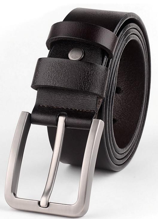 Мужской ремень с металлической пряжкой Traum черный 3,6 см