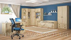 Кровать Валенсия 900 685х2025х975мм дуб самоа   Мебель-Сервис, фото 2