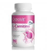 Л-Карнитин OstroVit L-CARNITINE 1000 90tabs- 90 000 концентрация