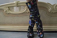 Высокие женские стильные цветные сапоги . Арт-0494