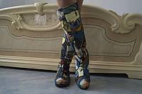Высокие женские стильные цветные сапоги . Арт-0494, фото 1