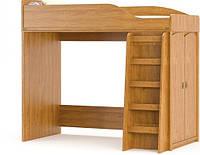 Кровать двухярусная Валенсия чердак 1820х2020х971мм дуб самоа   Мебель-Сервис