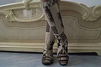 Высокие женские стильные осенние сапоги с орнаментом . Арт-0496, фото 1