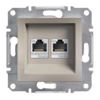 Розетка Schneider-Electric Asfora Plus телефонная+компьютерная двойная бронза. EPH4900169