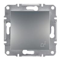"""Выключатель Schneider-Electric Asfora Plus Кнопка """"звонок"""" сталь. EPH0800162"""