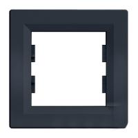 Рамка Schneider-Electric Asfora Plus 1-пост горизонтальная антрацит. EPH5800171