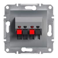 Розетка Schneider-Electric Asfora Plus аудио двойная сталь. EPH5700162