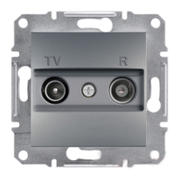 Розетка Schneider-Electric Asfora Plus TV/R проходная (8 дБ) сталь. EPH3300362